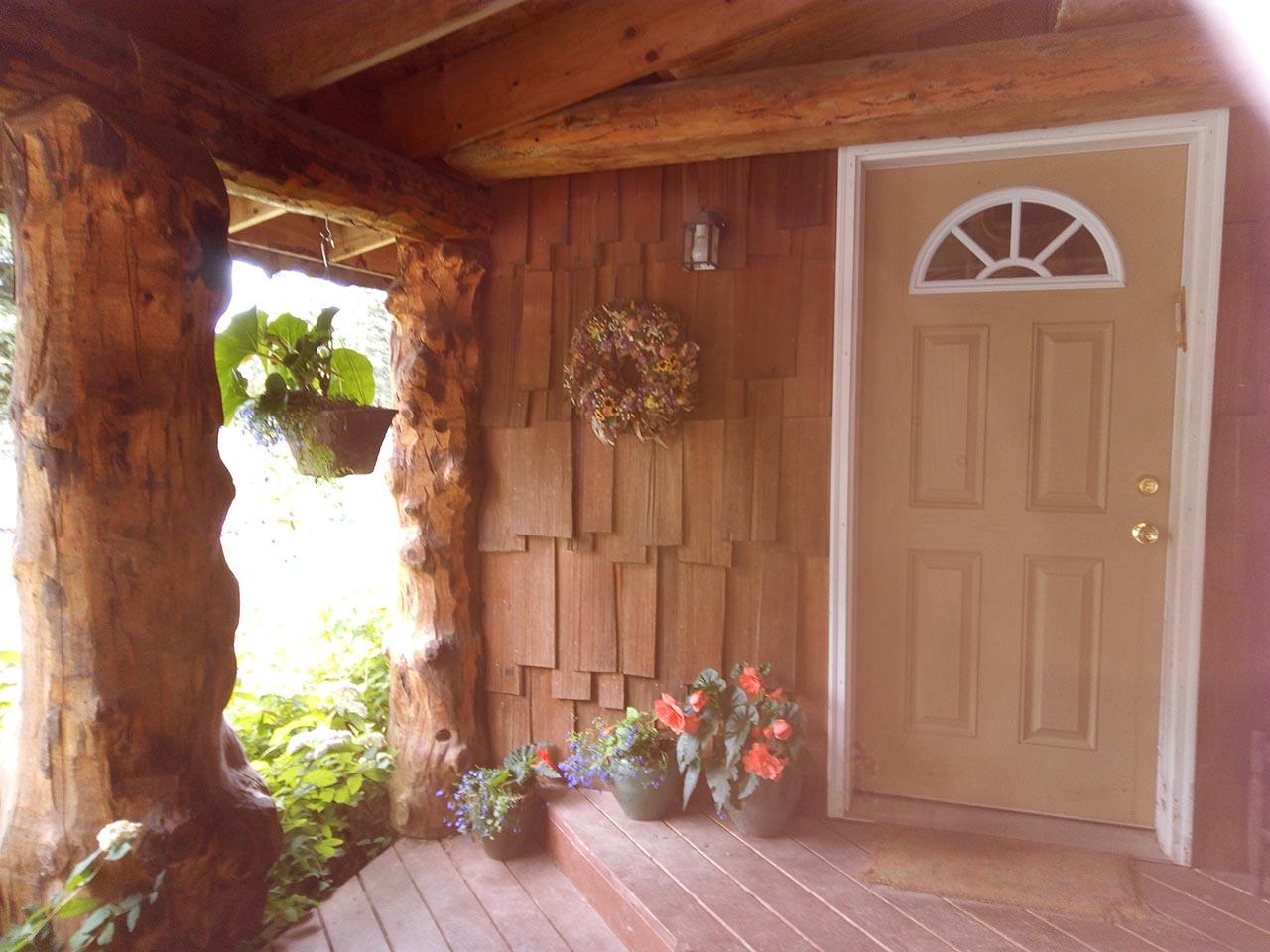 B&B front door.
