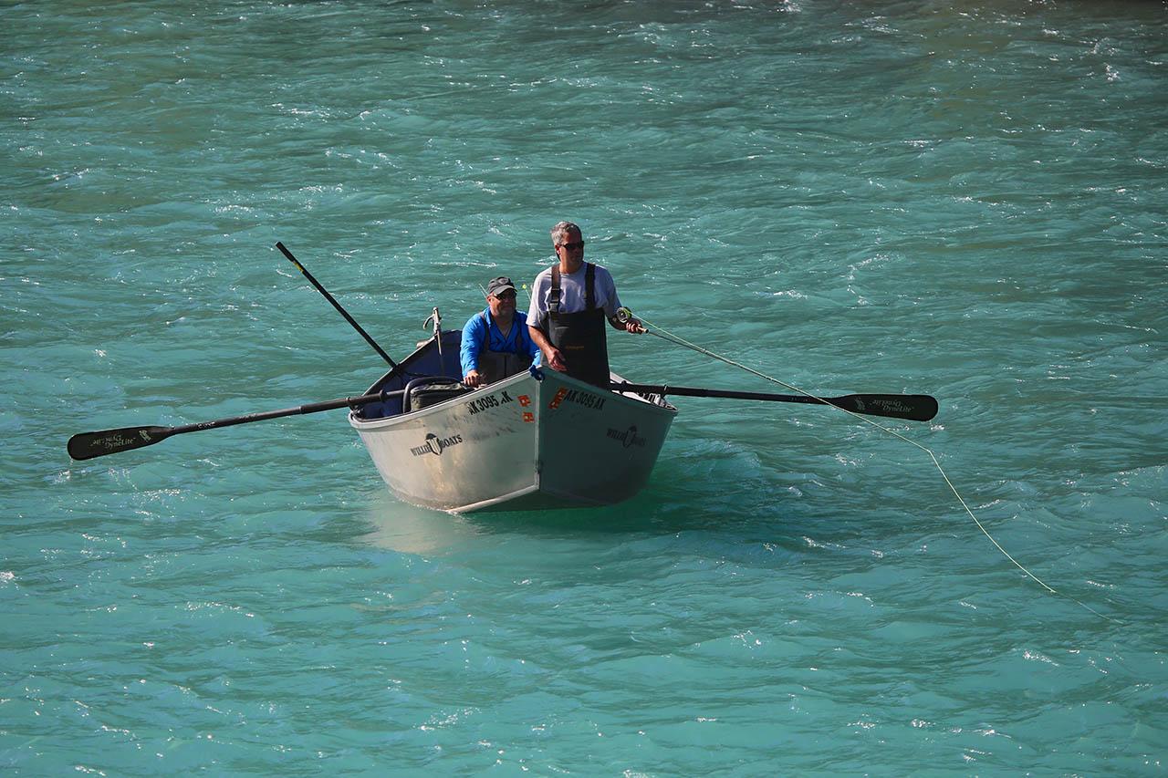 Fishermen in a boat.